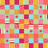 stock photo of scrappy  - vector scrappy pattern for St - JPG