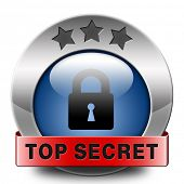 top secret icon confidential info and classified personal information private property or informatio