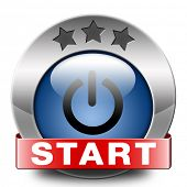 start icon play video movie or game