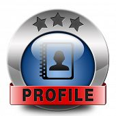 Profile personal information and bio icon or button your avatar