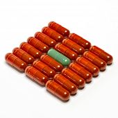 various pills isolated on white backround