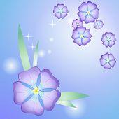 Stylized beautiful violet