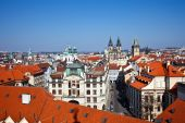 Red roofs of Old Town Prague