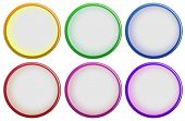 Illustration of the six colorful buttons on a white background