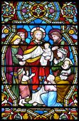 Historical Biblical Stained Glass Window