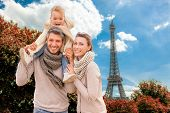 happy autumn spring vacations in city of love on valentine day
