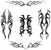 Set van vector tribal tattoos
