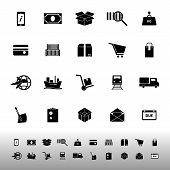 Shipment Icons On White Background