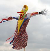Effigy Maslenitsa Before Burning (maslenitsa - Traditional Celebration In Russia)