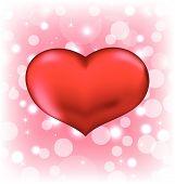 Red Heart, Valentine Glowing Background