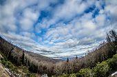 blue ridge parkway winter scenes in february