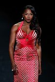 NEW YORK-FEB 6: Rutina Wesley wears Max Azria on the runway at The Heart Truth Red Dress Collection show during Mercedes-Benz Fashion Week at Lincoln Center on February 6, 2014 in New York City.