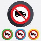pic of truck-stop  - No Delivery truck sign icon - JPG