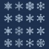 Simple Snowflake Shapes