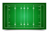 detailed illustration of a rugby field, eps10 vector