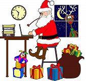 Santa laptop - color