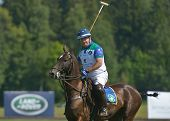 TSELEEVO, MOSCOW REGION, RUSSIA - JULY 26, 2014: Alexis Rodzianko of Moscow Polo Club in the match a