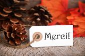 Autumn Label With Merci