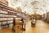 The Theological Hall In Strahov Monastery In Prague,