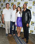 SAN DIEGO - JUL 25:  Rob Riggle, Keegan-Michael Key, Daman Wayans Jr, Nina Dobrev at the
