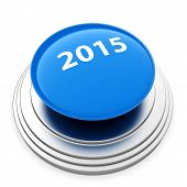 2015 New Year Blue Button