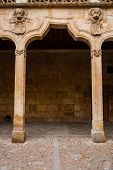Detail Archery Of The Patios De Escuelas Cloister In Salamanca