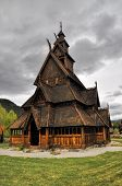 Gol, Wooden Church In Norway