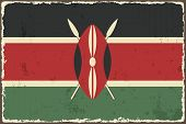 Kenyan grunge flag. Vector illustration