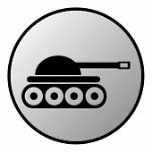 foto of panzer  - Panzer button on white background - JPG