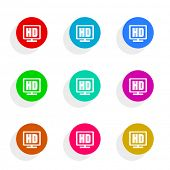 hd flat icon vector set