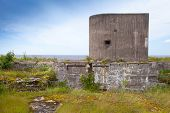 Old Concrete Bunker From Wwii Period. Totleben Fort In Russia