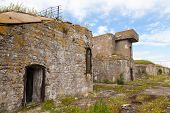Old Concrete Bunker From Wwii Period On Totleben Island In Russia