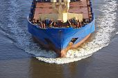 Beldorf (germany) - Bow Of A Vessel At Kiel Canal (retouched)