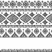 Tribal vintage ethnic background