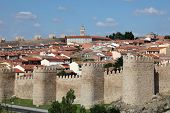 Medieval City Walls Of Avila