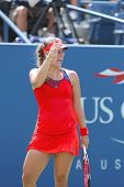 Angelique Kerber from Germany during  US Open 2013 second round match