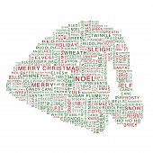 Santa Hat Word Cloud
