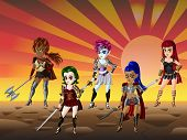 Warrior Girls Cartoon Dress Up