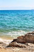 Gulf of Corinth Ionian Sea, Greece. Summer day