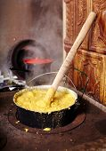 Hot Polenta Cooking