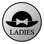 Female Restroom Symbol Button