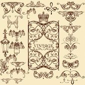 Collection Of Vector Vintage Decorative Elements And Flourishes