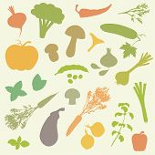 vegetables, food icons