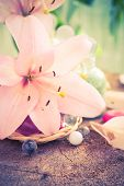 Spa Concept Flower Lily Salt Bathing