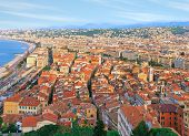 Bird's view of Nice old town, French Riviera