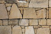 stock photo of old stone fence  - Old stone fence - JPG