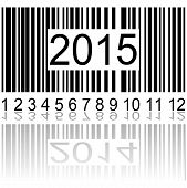 picture of barcode  - 2015 new year on the barcode vector illustration - JPG