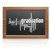 Blank Blackboard Graduation