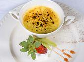 Crème Brûlée sobremesa à la carte