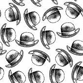 Sketch Retro Gentlemen Hat